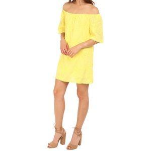 BB Dakota NWT Floral Off The Shoulder Yellow Dress